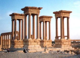 The Great Tetrapylon in Palmyra