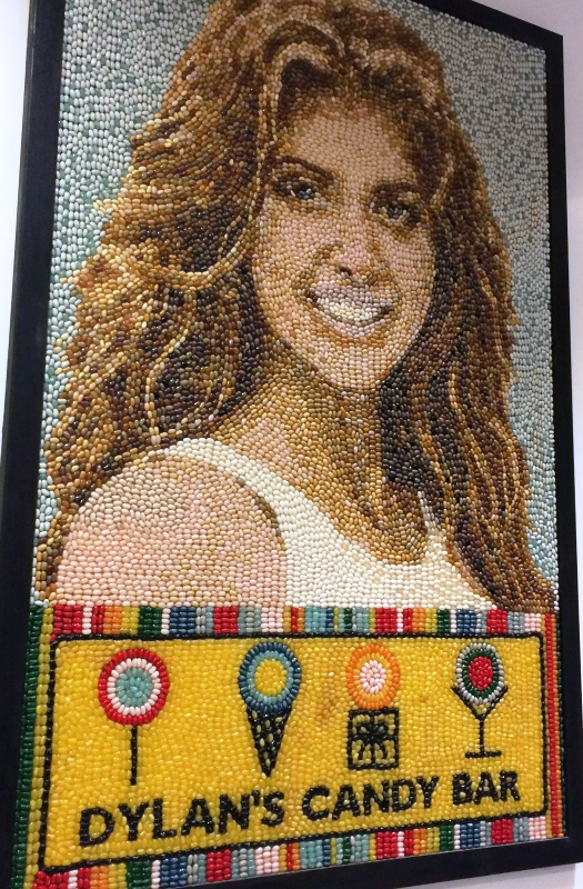 Dylan Lauren's portrait is made with jellybeans.