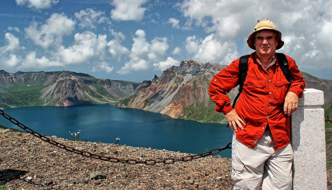 Ray Cunningham on Mount Paektu in North Korea