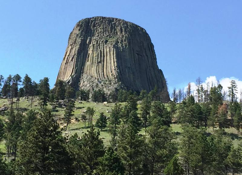Devils Tower in northeastern Wyoming