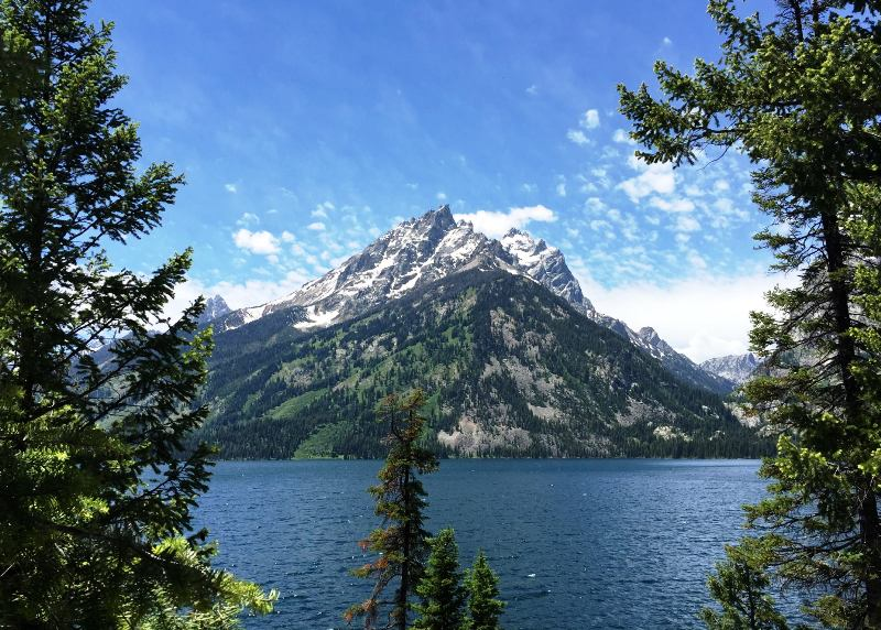 Jenny Lake and Grand Teton National Park in Wyoming