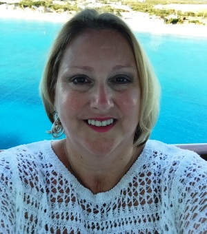 Tour Director Mary Dowling at Grand Turk Island