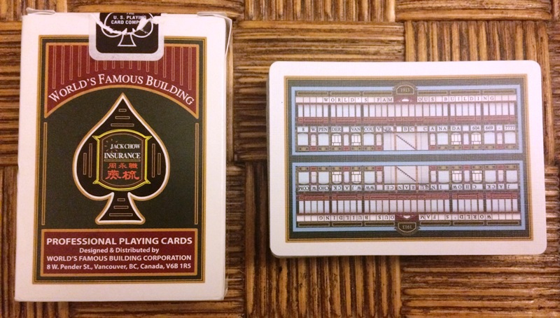"The ""World's Famous Building"" souvenir playing cards"