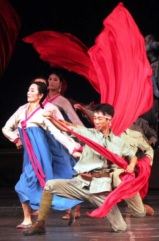 A performance of Tell O'Forest at the Grand Theatre in Hamhung, North Korea