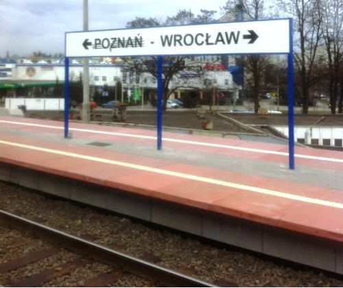 Train Platform in Poland